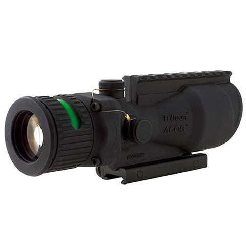 ACOG 6x48mm Dual Illumination Scope - Green Chevron .308 Ballistic Reticle with TA75 Mount and M1913 Rail, Black