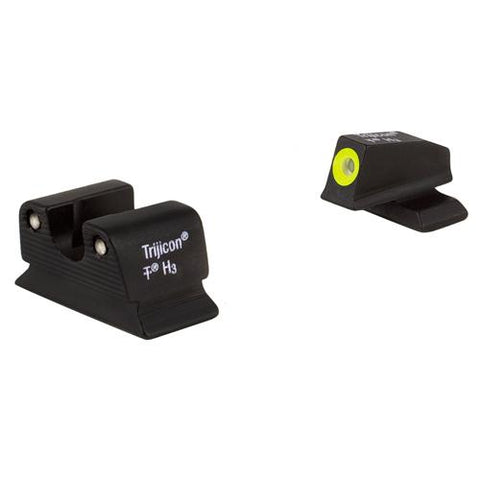 Beretta Bright and Tough 3 Dot Night Sight Set - 92A1 and 96A1 Models, Green Front and Rear Lamps
