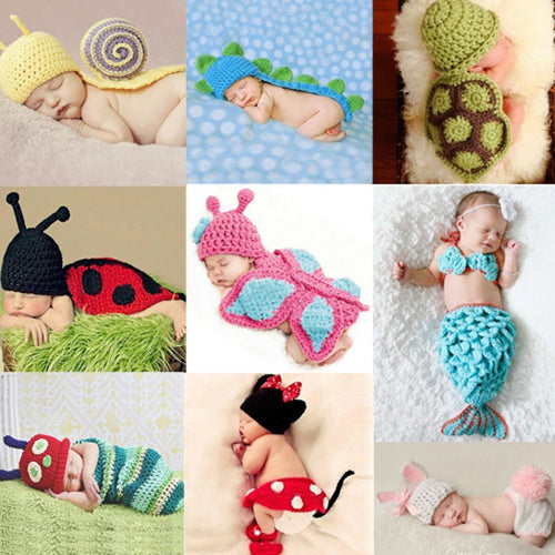 f19055520a9 Newborn crochet baby costume photography props knitting baby hat bow infant  baby photo props newborn baby