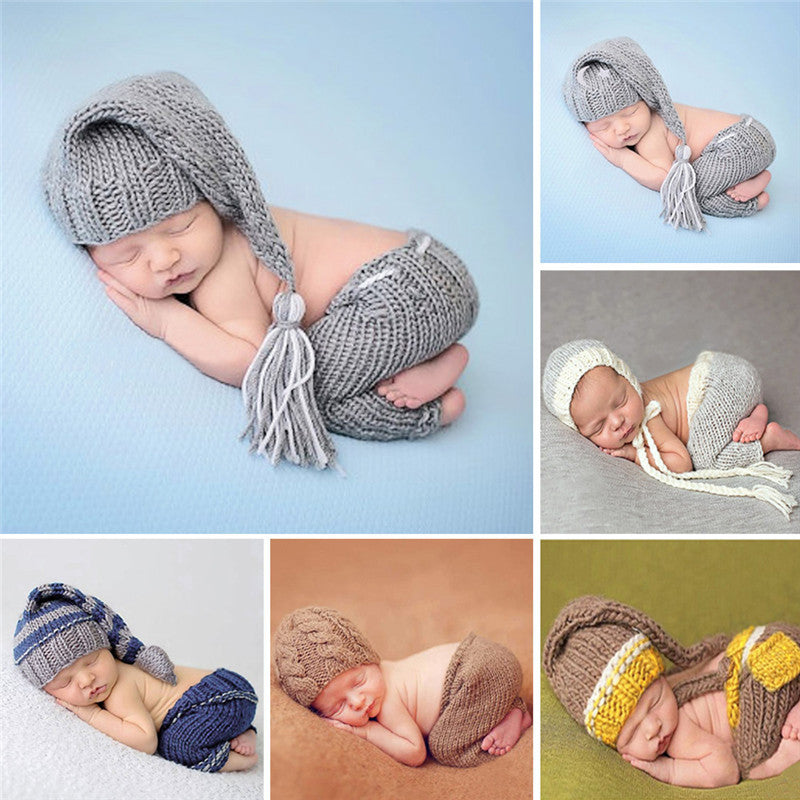 4ad4474b6 ... Handmade Knitting Soft Hat Pants Set Baby Clothing Accessories For 0-4  Months Newborn Baby ...