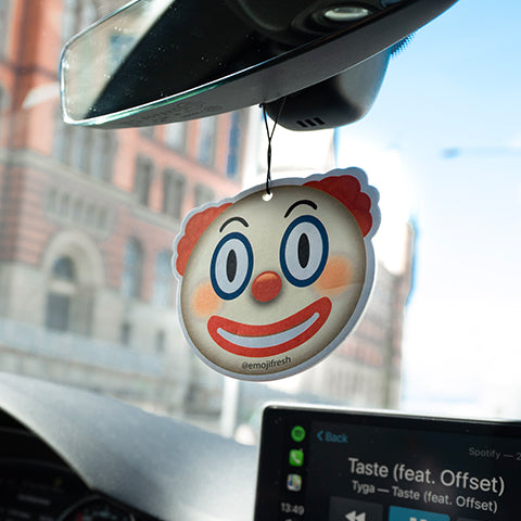Clown Emoji Car Air Freshener