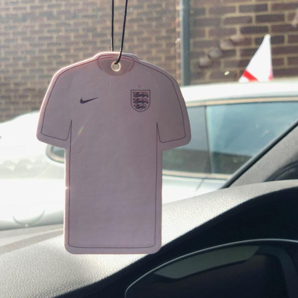 England Shirt Car Air Freshener
