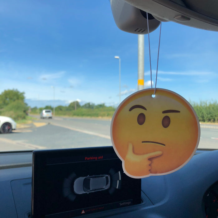 Thinking Face Emoji Car Air Freshener