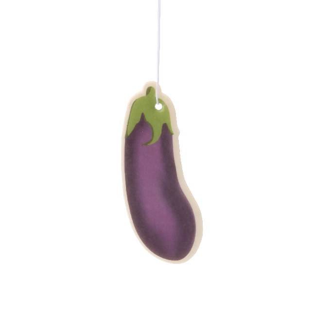 Aubergine Emoji Car Air Freshener x2 With Retail Packaging-EmojiFresh