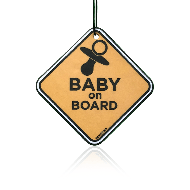 Baby On Board Car Air Freshener-EmojiFresh