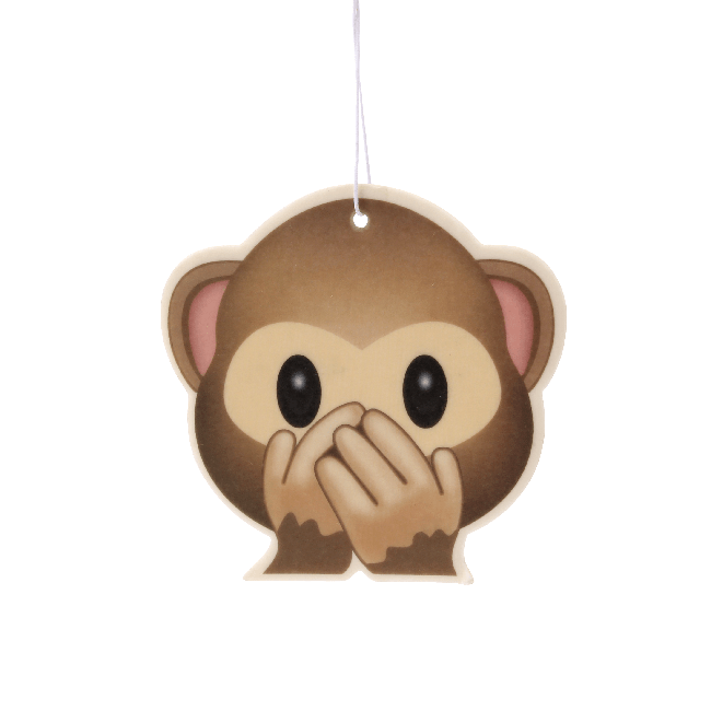 Cheeky Monkey Emoji Car Air Freshener x2 With Retail Packaging-EmojiFresh