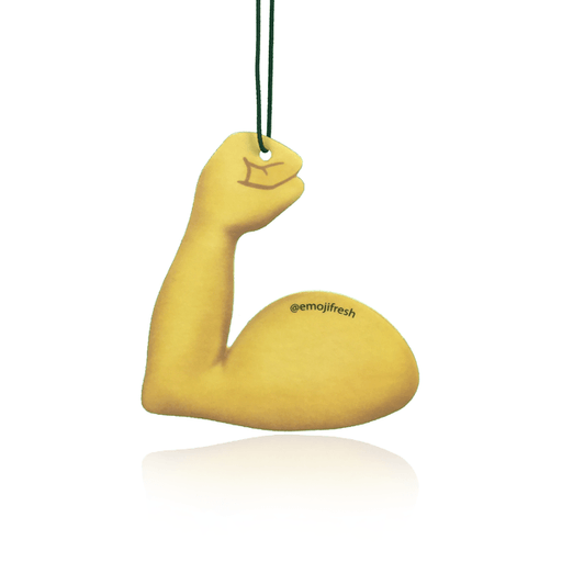 Flexed Bicep Emoji Car Air Freshener-EmojiFresh