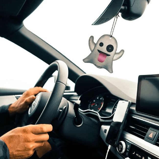 Ghost Emoji Car Air Freshener-EmojiFresh