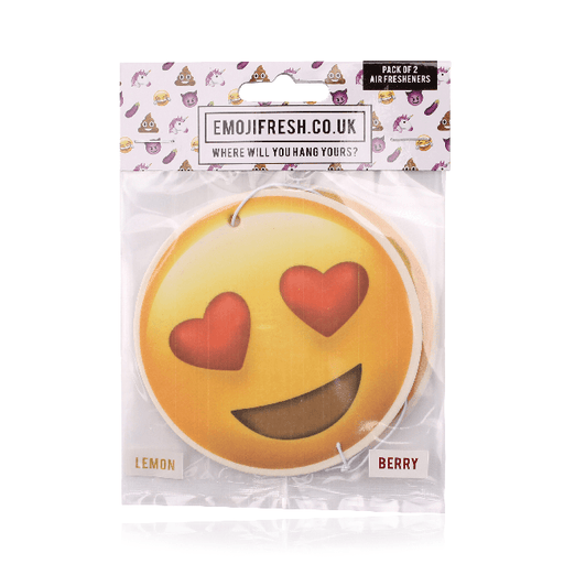 Heart Eyes Emoji Car Air Freshener x2 With Retail Packaging-EmojiFresh