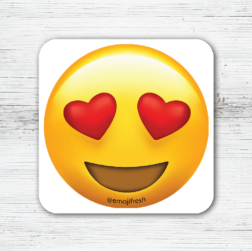 Hearts Smile Emoji Tea Coffee Coaster-EmojiFresh