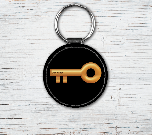 Key Emoji Faux Leather Keyring-EmojiFresh