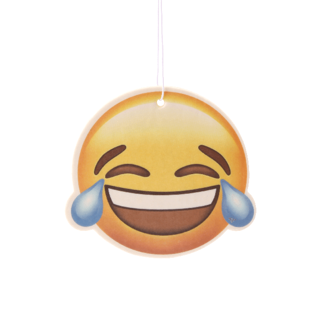 Laughing Face Emoji Car Air Freshener x2 With Retail Packaging-EmojiFresh
