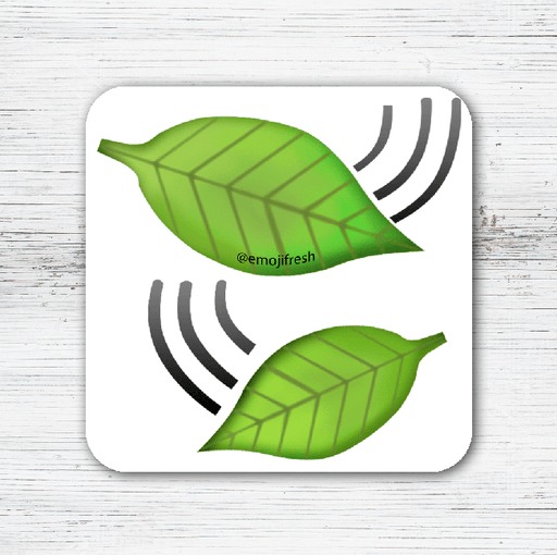 Leaves Emoji Tea Coffee Coaster-EmojiFresh