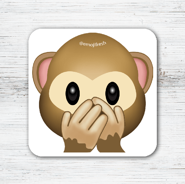 Monkey Emoji Tea Coffee Coaster-EmojiFresh