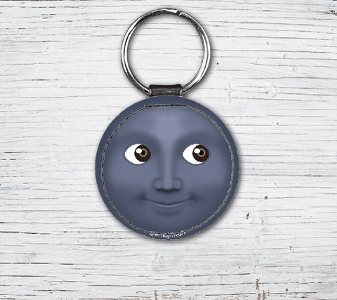 Key Emoji Faux Leather Keyring