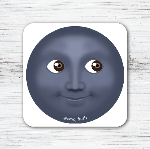 Moon Emoji Tea Coffee Coaster-EmojiFresh