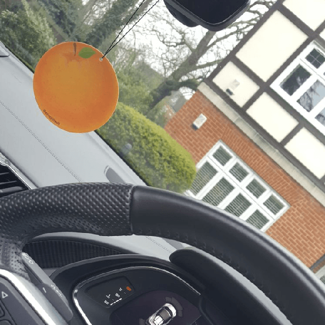 Orange Car Air Freshener-EmojiFresh