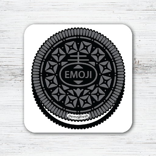 Oreo Emoji Tea Coffee Coaster-EmojiFresh