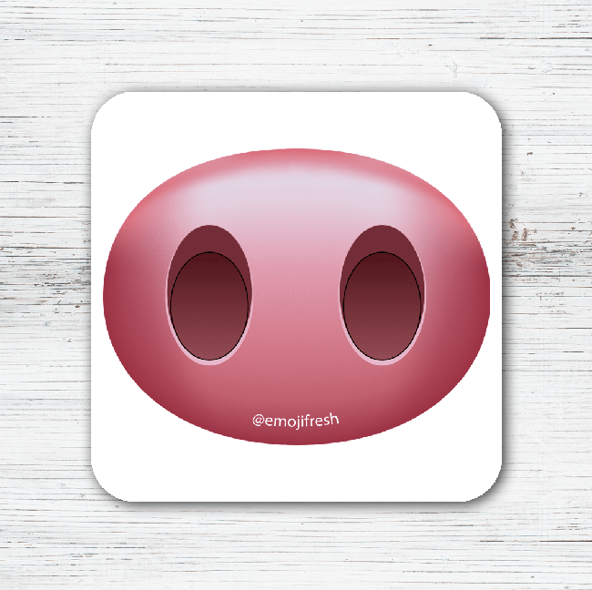 Pig Emoji Tea Coffee Coaster-EmojiFresh
