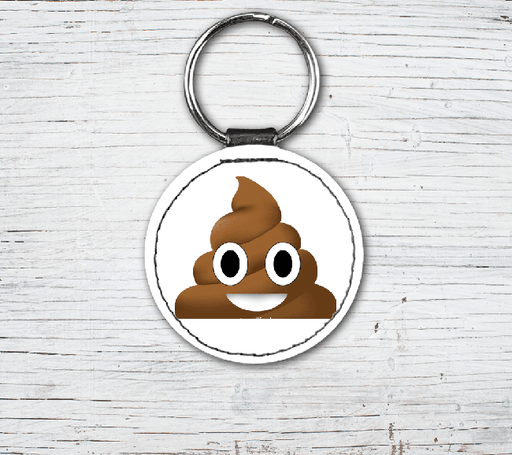 Poop Emoji Faux Leather Keyring-EmojiFresh