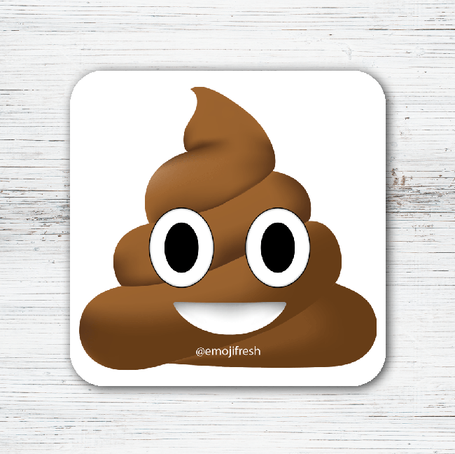 Poop Emoji Tea Coffee Coaster-EmojiFresh