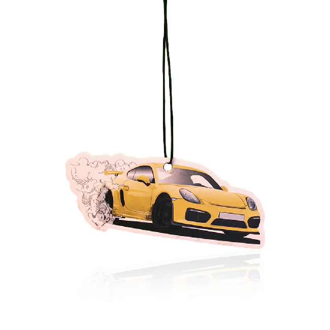 Sideways Sid's Racing Yellow GT4 Air Freshener Pack-EmojiFresh