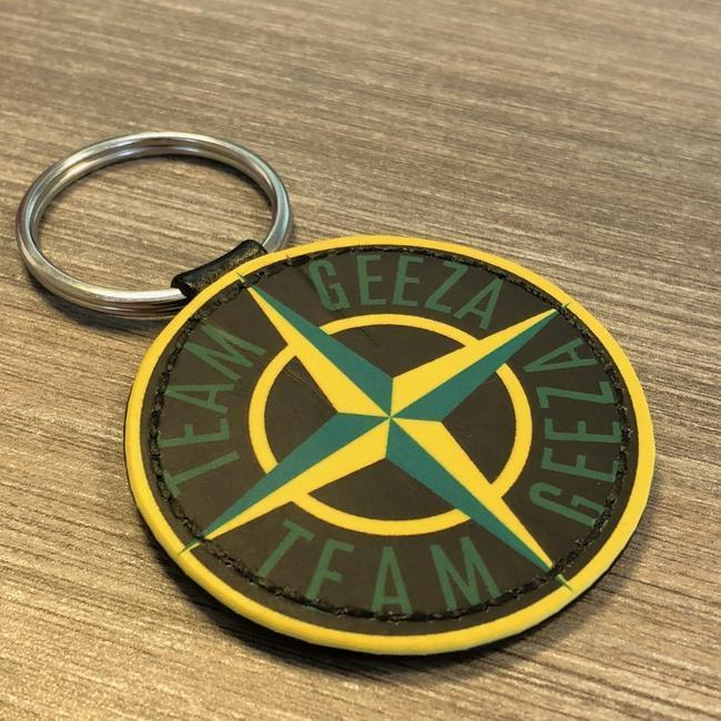 Team Geeza Faux Leather Keyring-EmojiFresh