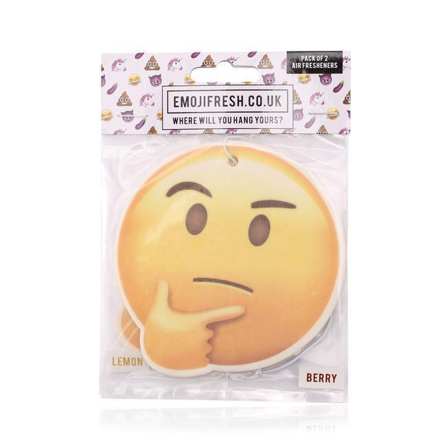 Thinking Face Emoji Car Air Freshener x2 With Retail Packaging-EmojiFresh