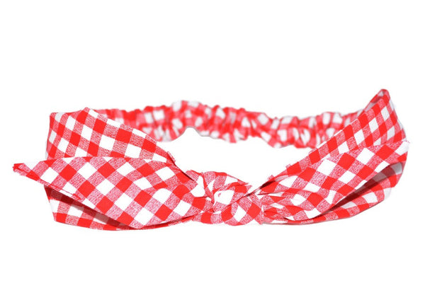4 in 1 Headband - Red Picnic