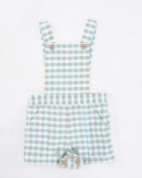 Romper - Baby Blue Check