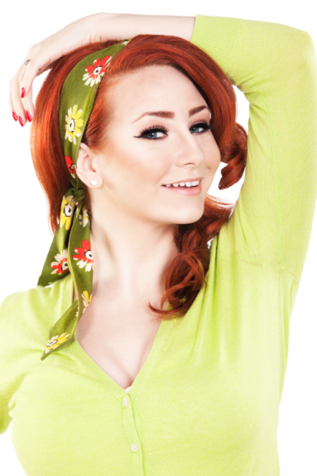 Bombshell Hair Wrap - Green Sunshine Daisy