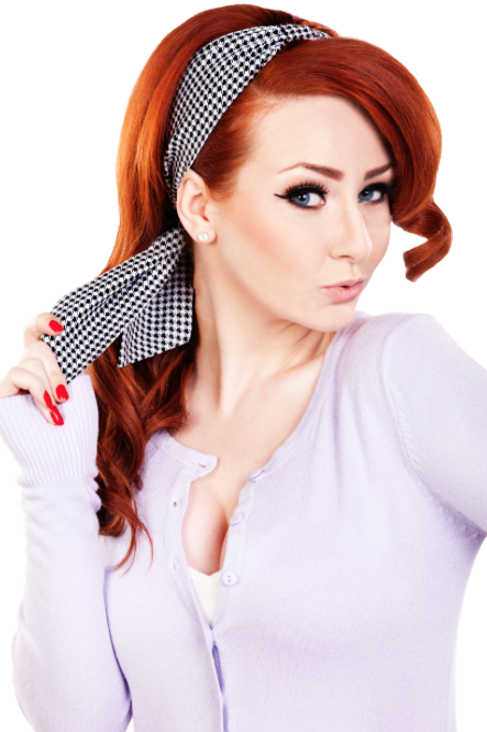 Bombshell Hair Wrap - Houndstooth