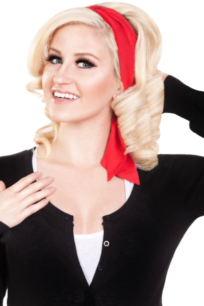 Bombshell Hair Wrap - Red