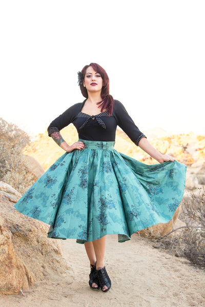 Jivin' Skirt - Morticia's Garden Green