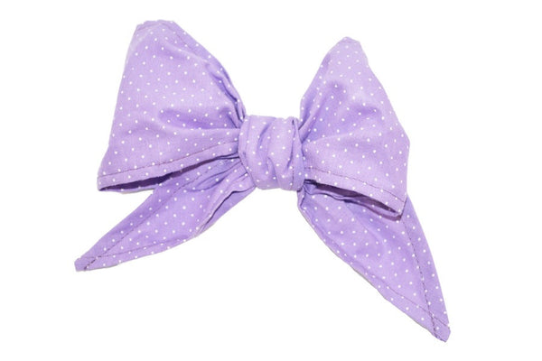 Minnie Bow - Lilac Mini Dot