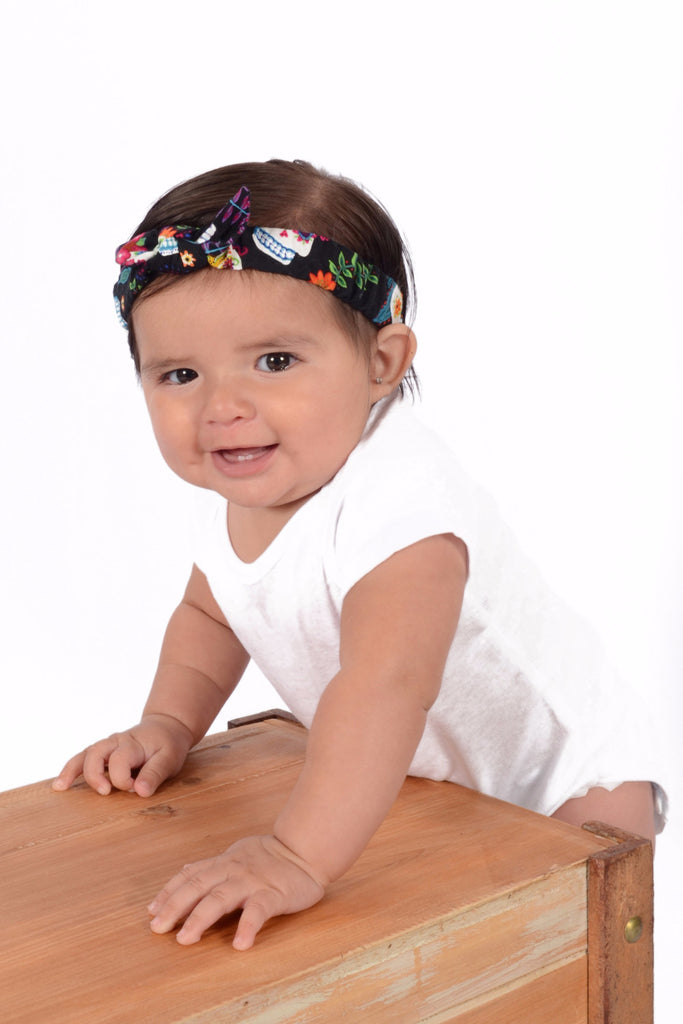 Mommy and Me Headband - Colorful Skulls