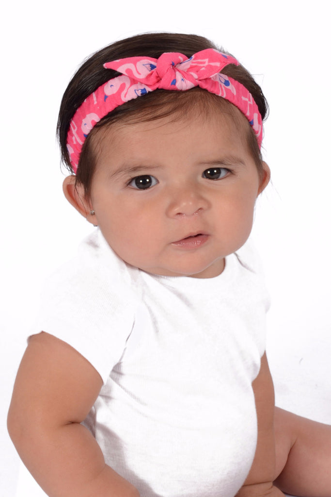 Mommy and Me Headband - Pink Flamingos