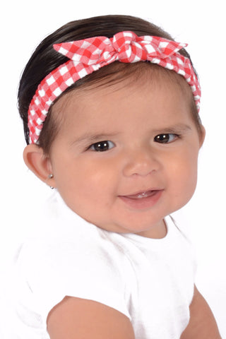 Mommy and Me Headband - Red Picnic