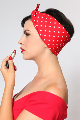 Rosie Bandana - Red & White Dots