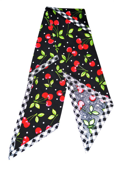 Rosie Bandana - Black Cherry Dots