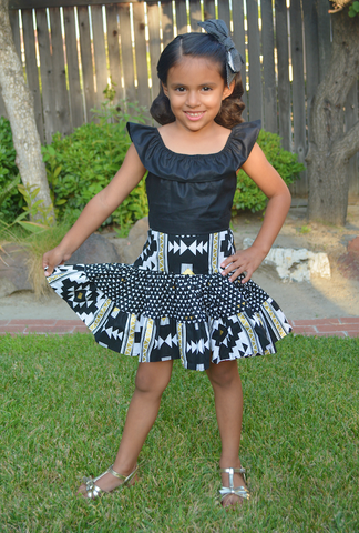 SAMPLE SALE Kids Boogie Woogie Skirt - Southwestern