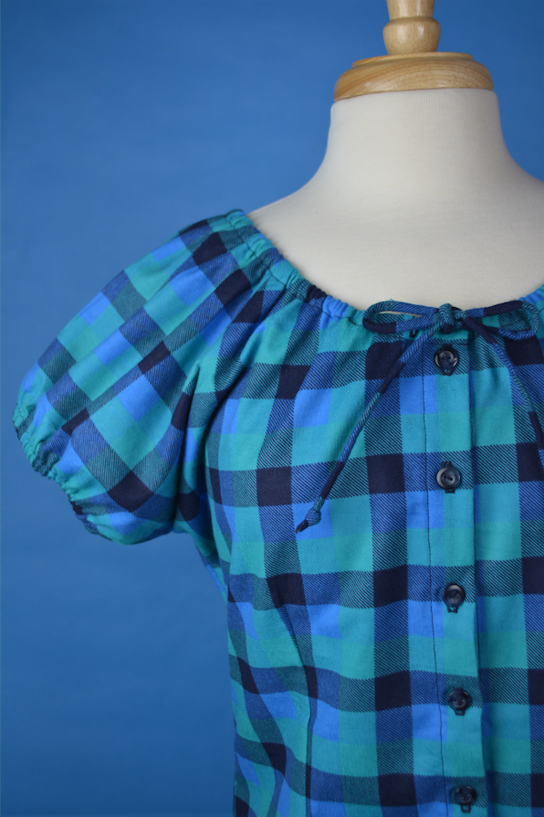 Mary Blouse - Flannel Blue