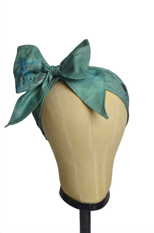 Minnie Headband - Morticia's Garden Green
