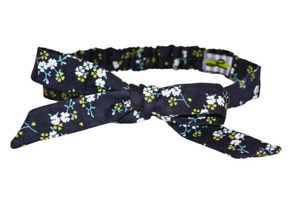 Tracy Headband - Wildflower Navy
