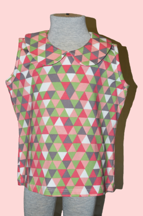 Wendy Top - Triangle Pink