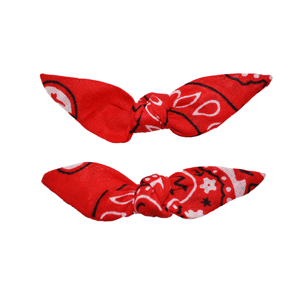 Cute Knotted Bows - Classic Red