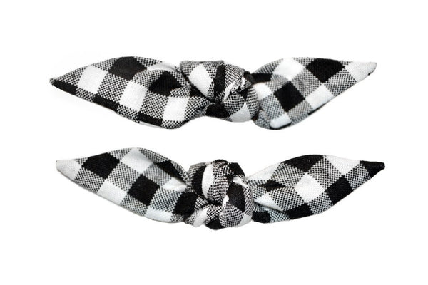 Cute Knotted Bows - Black Picnic