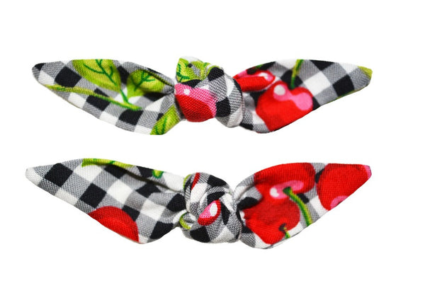 Cute Knotted Bows - Cherry Picnic