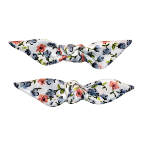 Cute Knotted Bows - Floral Grey