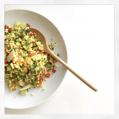Pili Nut Golden Cauliflower Couscous from Whitney Aronoff